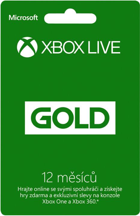 Microsoft Xbox Live zlaté členství 12 měsíců