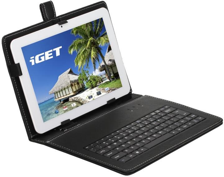 iGET 10.1'' pouzdro s klávesnicí F10B, černá