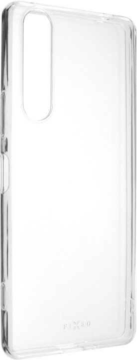FIXED ultratenké TPU gelové pouzdro Skin pro Sony Xperia 1 II, 0.6 mm, čirá