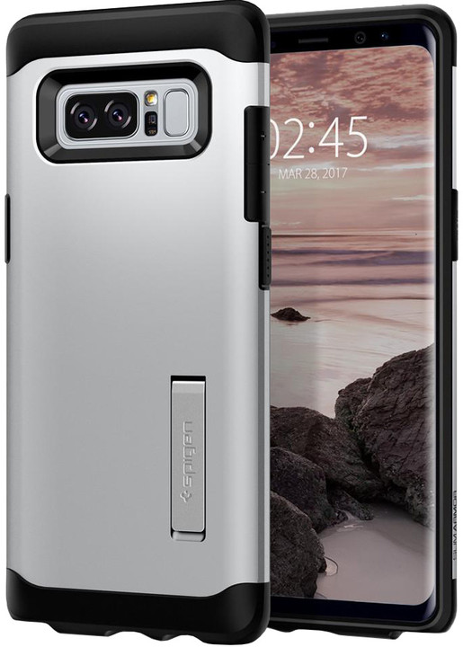 Spigen Slim Armor pro Galaxy Note 8, satin silver