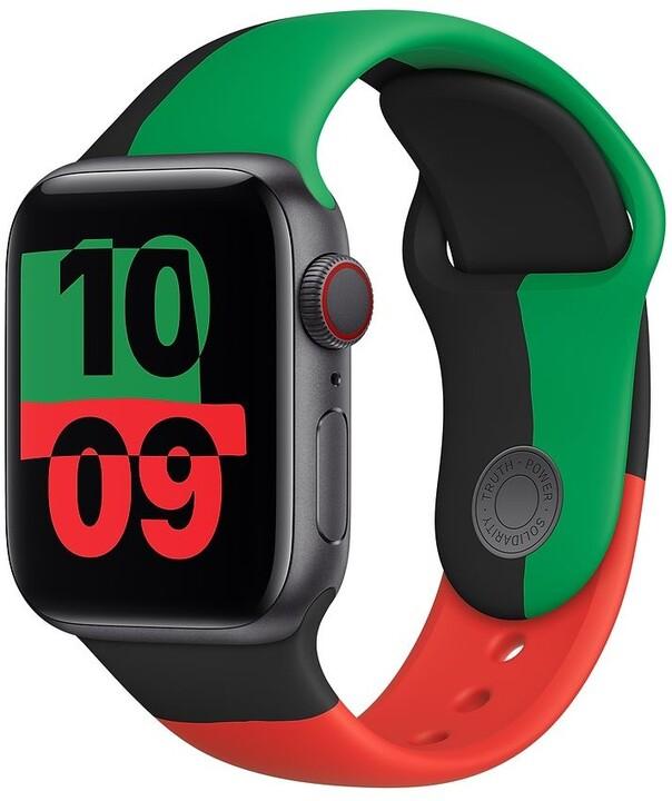 Apple řemínek pro Watch Series, sportovní, 40mm, Black Unity SB-Reg