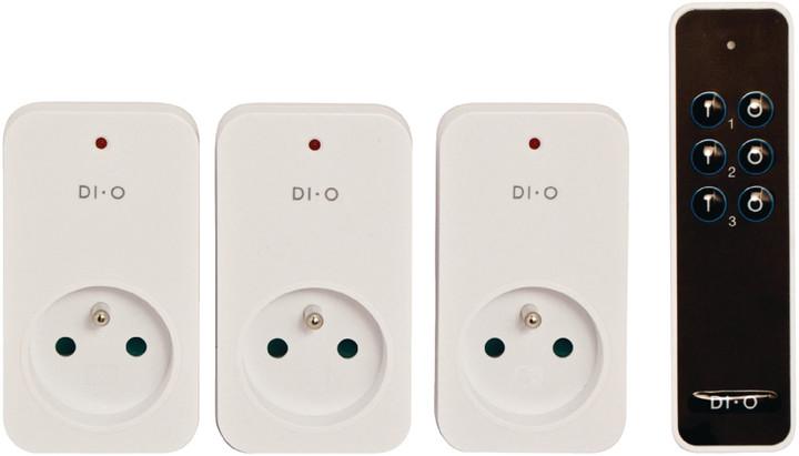 DI-O dálkově ovládaná zásuvka, kit 3ks + 1x DO