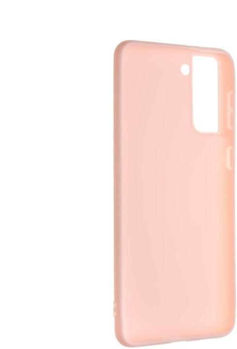 FIXED pogumovaný kryt Story pro Samsung Galaxy S21+, růžová