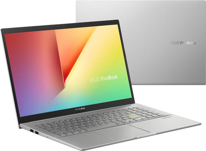 ASUS VivoBook 15 K513EA, stříbrná