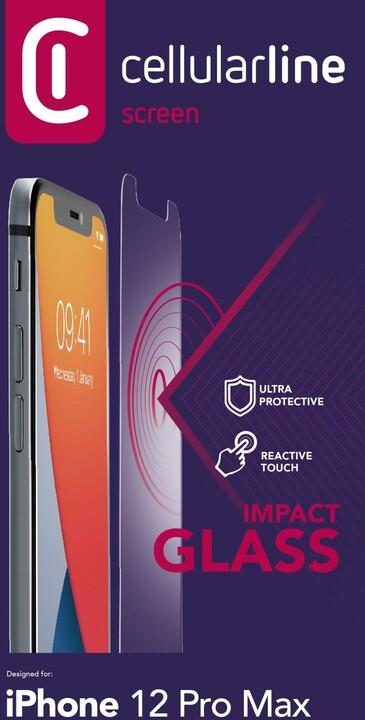 Cellularline ochranné tvrzené sklo Second Glass Ultra pro iPhone 12 Pro Max