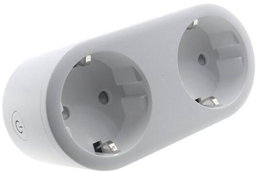 iQtech SmartLife chytrý dvojzásuvkový adaptér, 16A, Wi-Fi, měření spotřeby