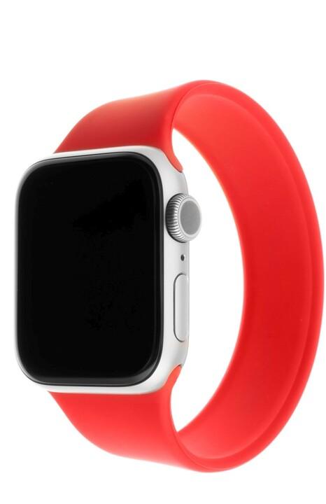 FIXED silikonový řemínek pro Apple Watch, 38/40mm, elastický, velikost L, červená