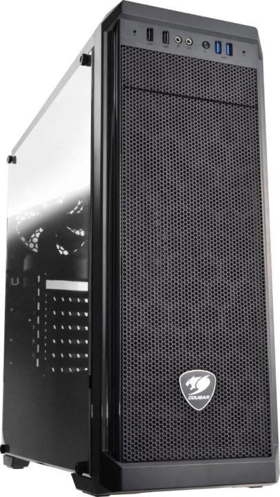 Cougar MX330, okno, černá