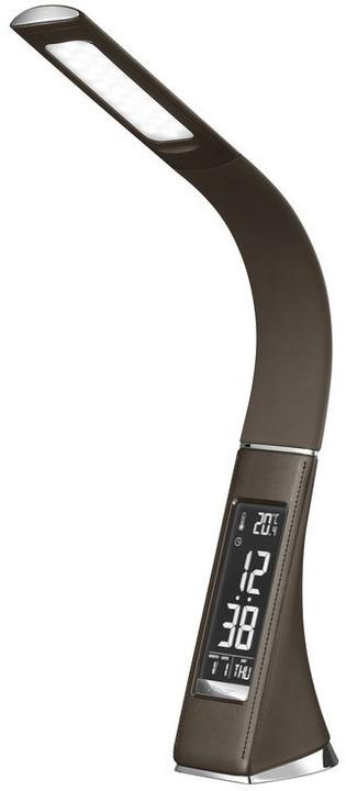 IMMAX LED stolní lampička Leather/ 6,5W/ 300lm/ 5V/ 1A, hnědá