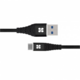 Promate kabel NeverLink-C USB - USB-A, 3A, opletený, 1.2m, černá