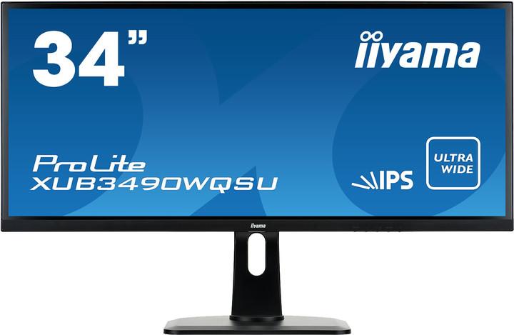 "iiyama ProLite XUB3490WQSU - LED monitor 34"""
