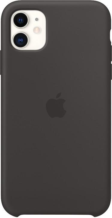 Apple silikonový kryt na iPhone 11, černá