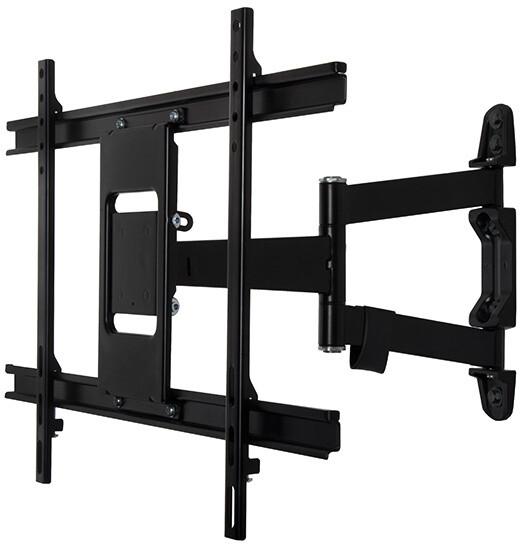 B-TECH Ventry ultratenký univerzální nástěnný držák s dvojitým ramenem, VESA 600x400, černá