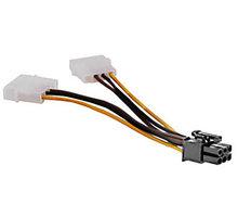 Akasa redukce napájení 2x4pin Molex (power 5,25) na 1xPCIexp