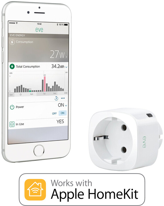 Elgato Eve Energy EU - bezdrátový senzor a zásuvka