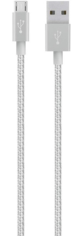 Belkin MIXIT USB 2.0 kabel micro-B, 1,2 m, stříbrná