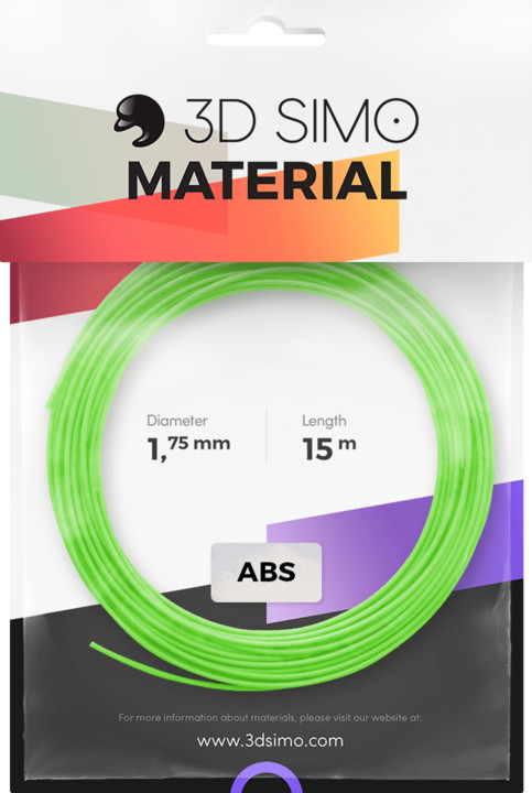 3Dsimo materiál - ABS (modrá, zelená, žlutá)