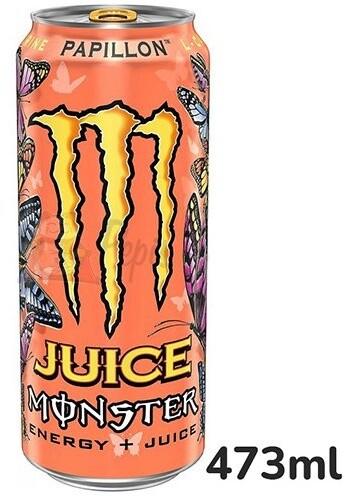 Monster Papillon, energetický, broskev/nektarinka, 473ml