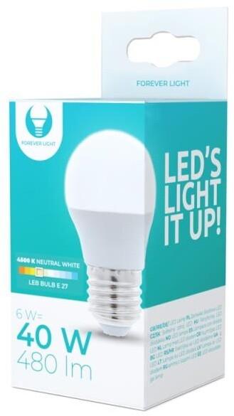 Forever žárovka G45 E27, LED, 6W, 4500K, neutrální bílá