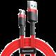 Baseus odolný nylonový kabel USB Micro 2.4A 1M, červená + červená
