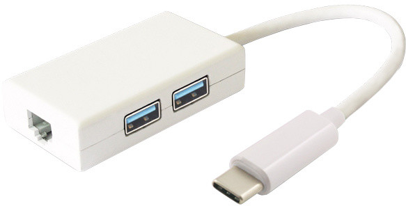 PremiumCord USB3.1 hub 2x USB3.0 + Gigabit konektor RJ45