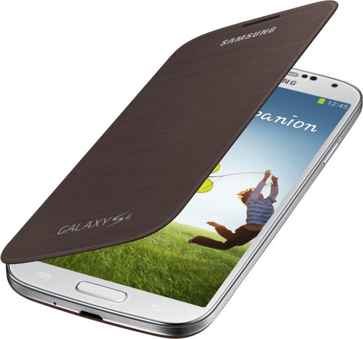 Samsung flipové pouzdro EF-FI950BA pro Galaxy S 4 (i9505), hnědá
