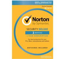 Symantec Norton Security Deluxe 3.0 CZ, 1 uživatel, 3 zařízení, 1 rok - 21358351