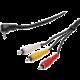 PremiumCord 3.5mm 4 pinový - 3x CINCH RCA, M/M, 1,5m