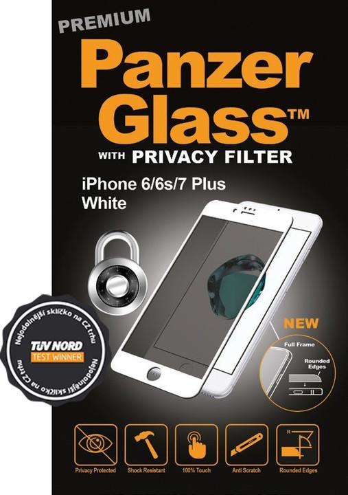 PanzerGlass Premium Privacy pro Apple iPhone 6/6s/7/8, bílé
