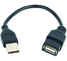 Gembird CABLEXPERT kabel USB A-A 15cm 2.0 prodlužovací HQ zlacené kontakty, černá