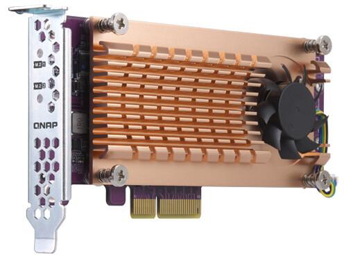 QNAP QM2-2P-384 - Duální rozšiřující karta pro disky SSD M.2 22110/2280 PCIe (Gen3 x8)