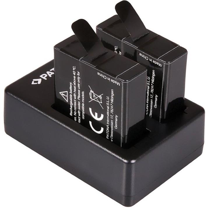 Patona sada pro digitální kameru Dual GoPro Hero 5/6/7 nabíječka + 2x baterie 1250mAh USB