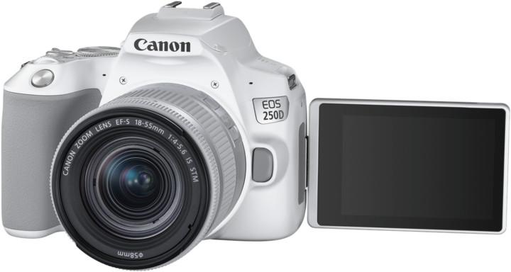 Canon EOS 250D + 18-55mm IS STM, bílá