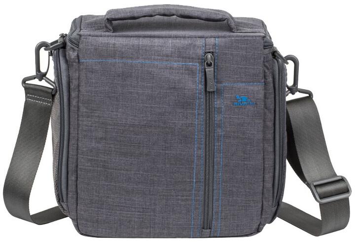 RivaCase 7503 plátěné pouzdro velké pro SLR fotoaparáty, šedá