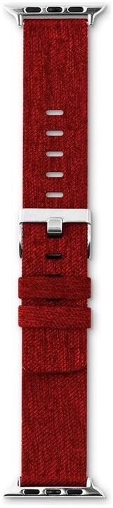 EPICO řemínek Canvas pro Apple Watch 38/40mm, červená