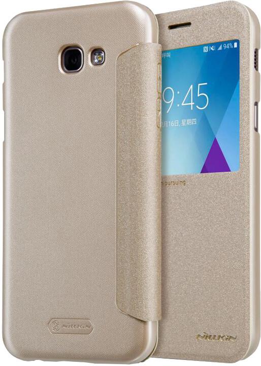 Nillkin Sparkle S-View pouzdro pro Samsung A520 Galaxy A5 2017 - zlaté