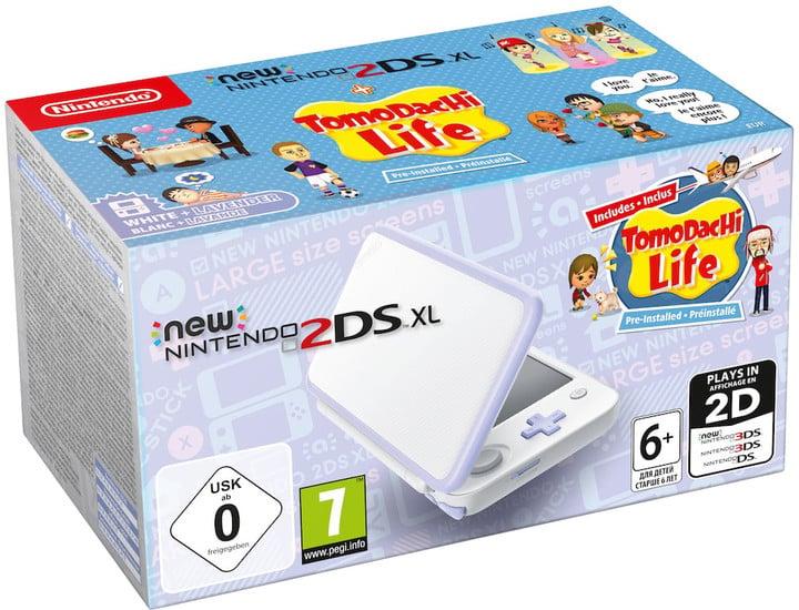 Nintendo New 2DS XL, bílá/fialová + Tomodachi Life