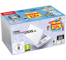 Nintendo New 2DS XL, bílá/fialová + Tomodachi Life NI3H97260