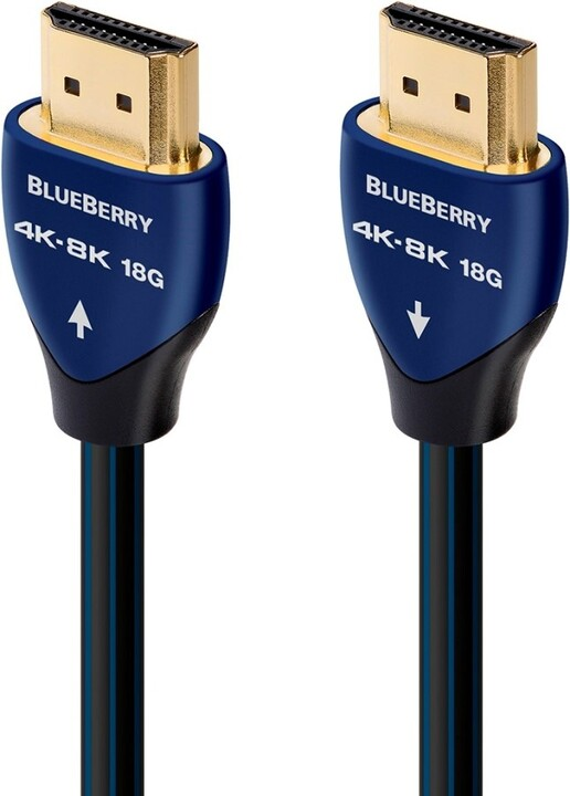 Audioquest kabel BlueBerry HDMI 2.0, M/M, 8K@30Hz, 5m, černá/modrá