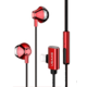 USAMS EP-32 Lightning Stereo Headset, červená