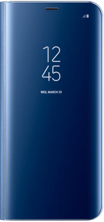 Samsung S8+, Flipové pouzdro Clear View se stojánkem, modrá