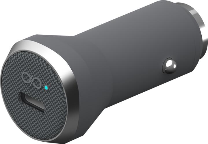 BigBen Force Power USB-C nabíječka do auta 27W, šedá
