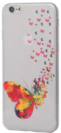 EPICO pružný plastový kryt pro iPhone 6/6S SPRING BUTTERFLY