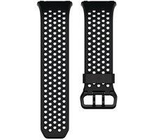 Fitbit Ionic sportovní řemínek černošedý - velikost S FB164SBBKS