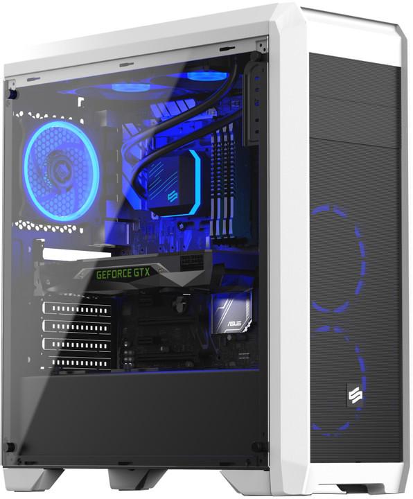 SilentiumPC RG4T RGB Frosty White, okno, bílá