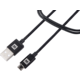 MAX MUC2100B kabel micro USB 2.0 opletený, 1m, černá