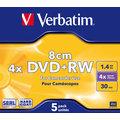 Verbatim DVD+RW 4x 8cm jewel 5ks