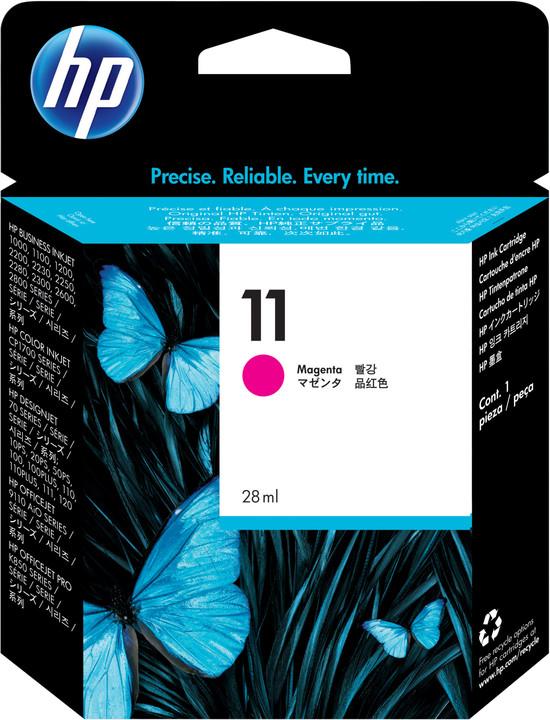 HP C4837AE, no.11, purpurová