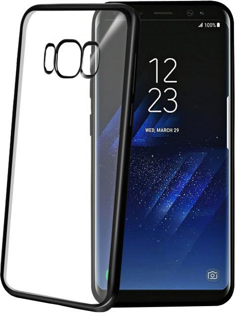 CELLY Laser - lemování s kovovým efektem TPU pouzdro pro Samsung Galaxy S8, černé