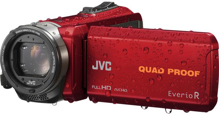 JVC GZ R435R, červená